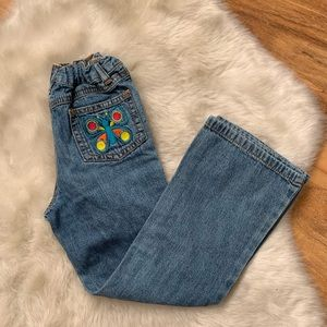 Carters butterfly boot cut jeans size 6